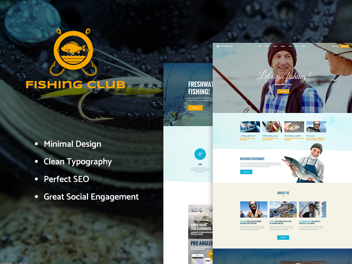 FishingClub WordPress blog template
