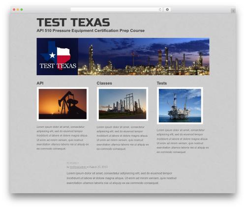 Gridiculous best free WordPress theme - testtexas.com
