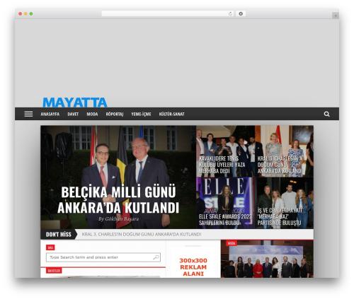 Hot Topix WordPress website template - mayatta.com