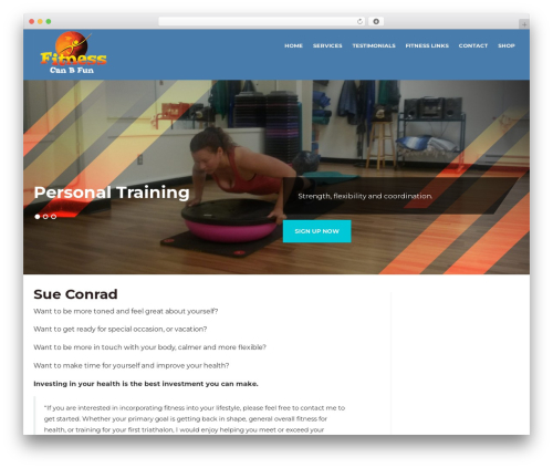 In Shape Child gym WordPress theme - fitnesscanbfun.com