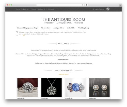 Jewellery WordPress template - theantiquesroom.com