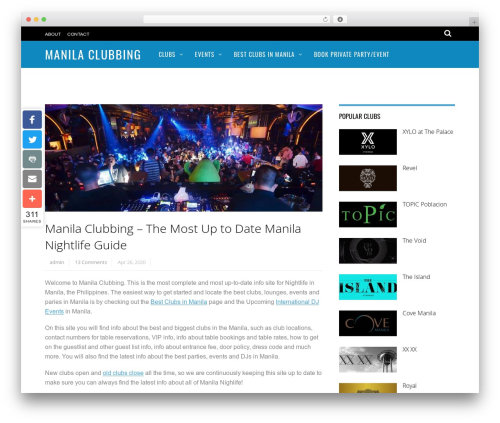 Magazine WordPress news template - manilaclubbing.com