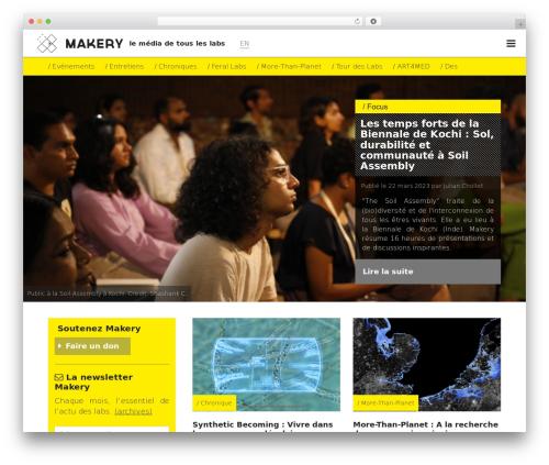 Makery WordPress template - makery.info