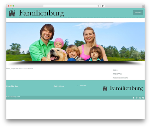 MODUS theme WordPress - familienburg.org
