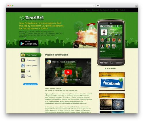 MyApp WordPress gaming theme - trailhit.com