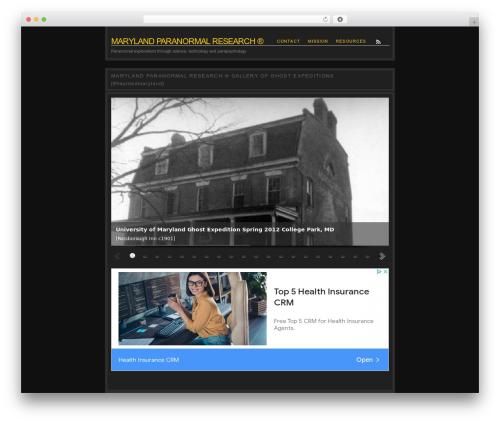Nishita WordPress theme design - maryland-paranormal.com