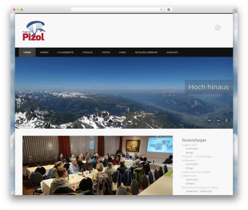Pinboard theme WordPress - fluggruppepizol.ch