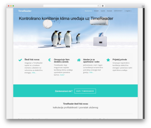 Salient theme WordPress - timereader.eu