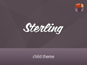 Sterling (shared on themelock.com) WordPress theme design