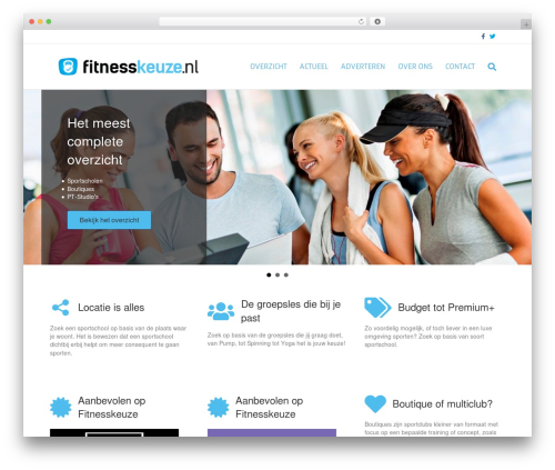 Template WordPress Beaver Builder Theme - fitnesskeuze.nl