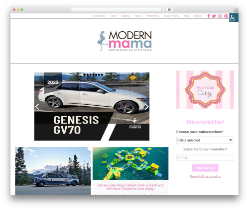 Template WordPress Little Elegancé - modernmama.com
