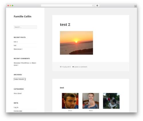 Twenty Fifteen WordPress theme - famillecollin.net