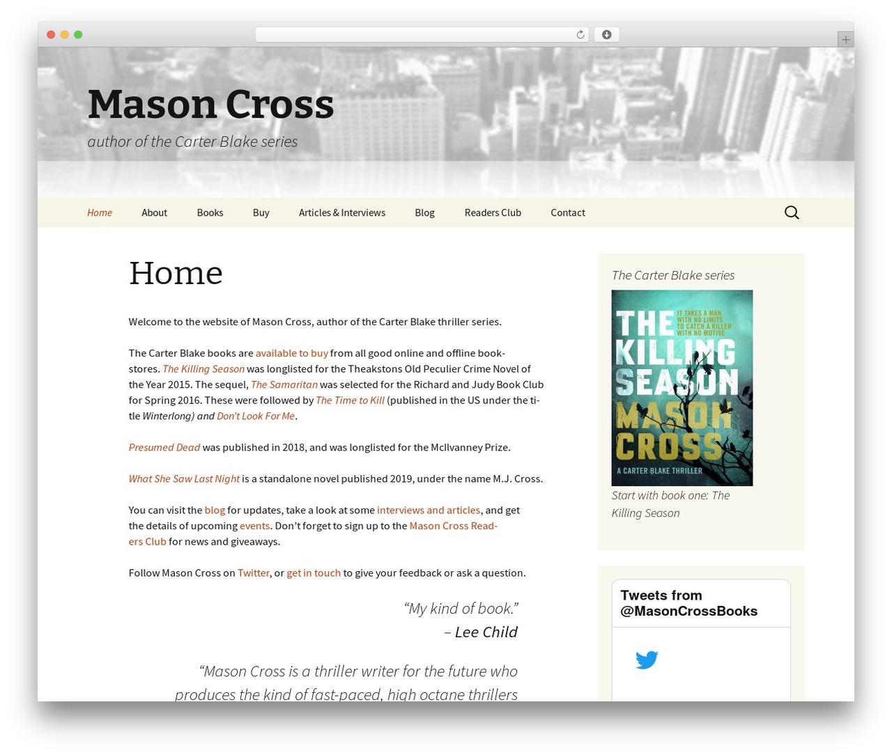 Twenty Thirteen best free WordPress theme - masoncross.net