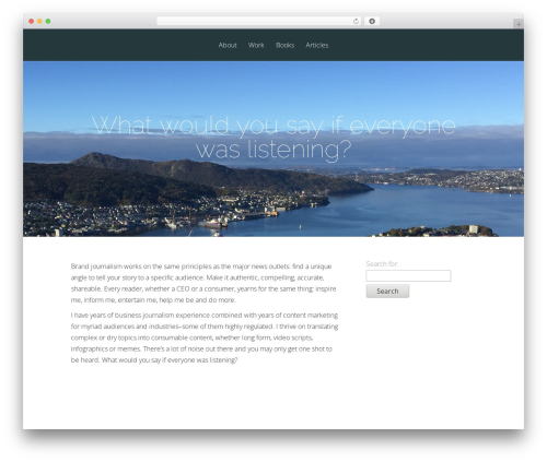 Vertex free WordPress theme - fishpondcontent.com