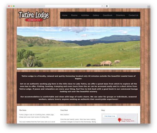 Victoria WordPress theme design - tutira.co.nz