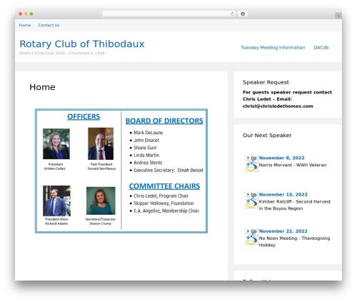 WordPress website template Structr - thibodauxrotary.org