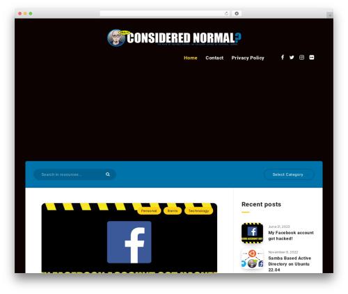 Reco WordPress theme - considerednormal.com