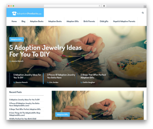 SocialNow by MyThemeShop WordPress ecommerce template - adoptionproducts.com