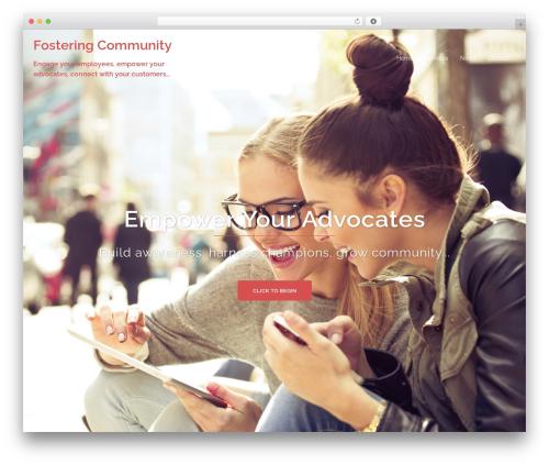 Sydney WordPress theme - fostering.community
