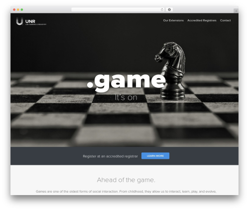 Uniregistry WordPress gaming theme - nic.game