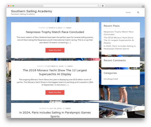 WhiteDot WP template - southernsailingacademy.com