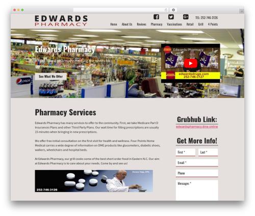 WordPress website template MSH Responsive (SASS) Theme - edwardspharmacy.org