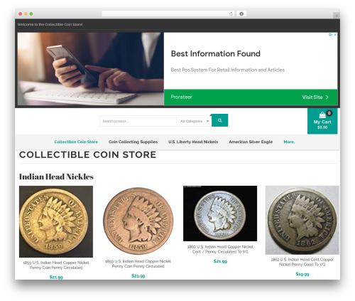 Caden WordPress shop theme - collectiblecoinstore.com