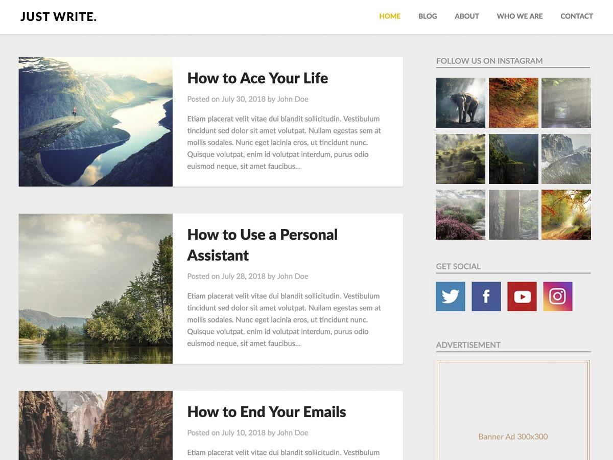 Clean Bloggist WordPress movie theme