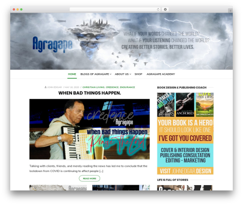 Type Plus WordPress theme - agragape.com