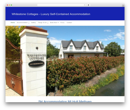 Custom-G WP theme - whitestonecottages.co.nz