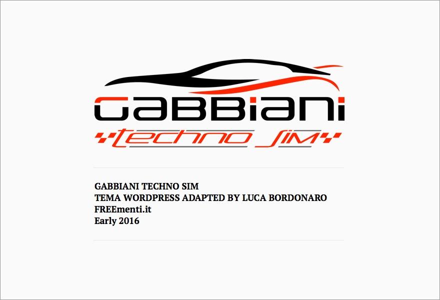 Gabbiani Techno Sim WordPress portfolio theme