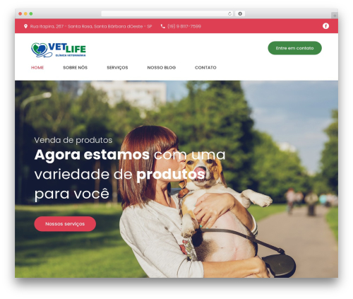 PetCenter top WordPress theme - clinicavetlife.com.br