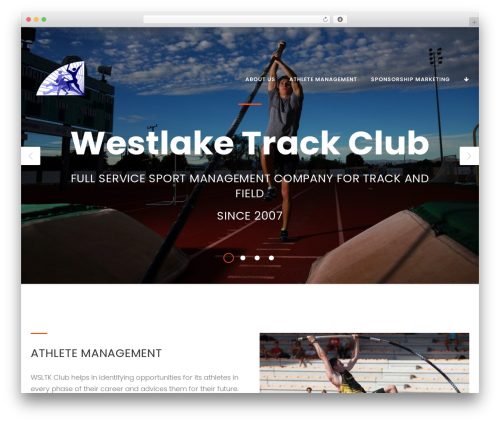 WordPress theme FitPress - westlaketrackclub.com