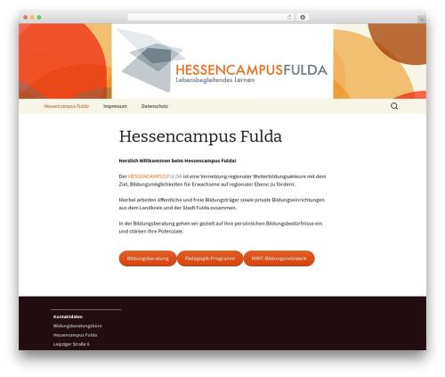 WordPress theme Twenty Thirteen - hessencampus-fulda.de
