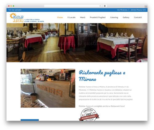 Best WordPress template Bridge - ristobaraurora.com