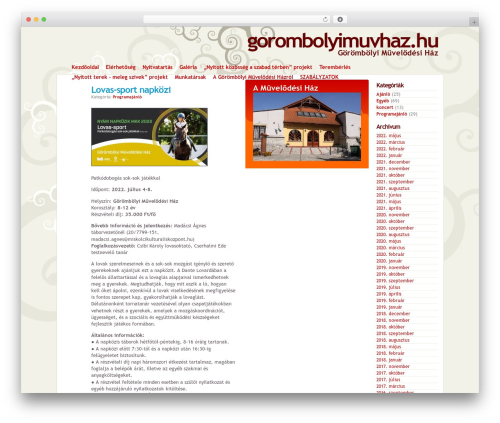 Best WordPress template gmh - gorombolyimuvhaz.hu