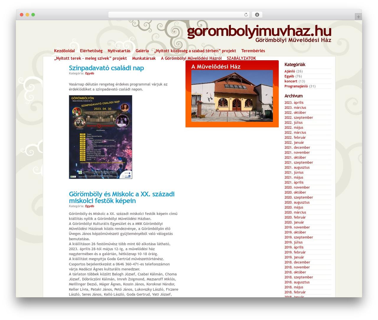 Best WordPress template gmh - gorombolyimuvhaz.hu