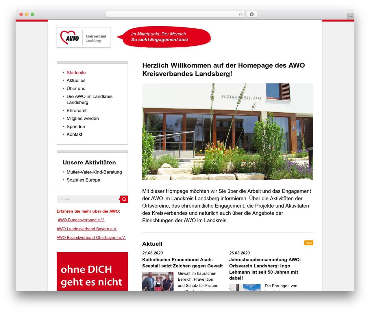 BLANK Theme WordPress theme - awo-landsberg.de