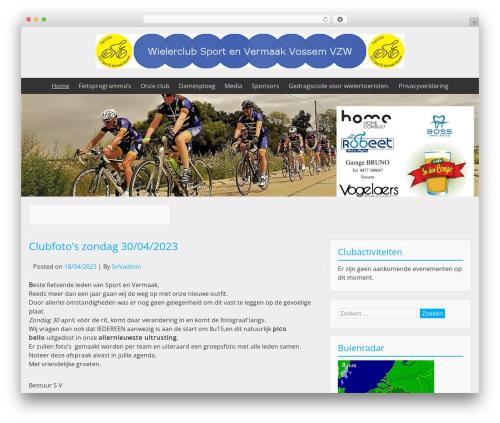 BlueGray template WordPress free - sportenvermaak.be