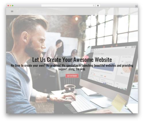 Brand free WP theme - createanawesomewebsite.com