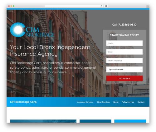 BrightFire Stellar WordPress template for business - cimbrokerage.com