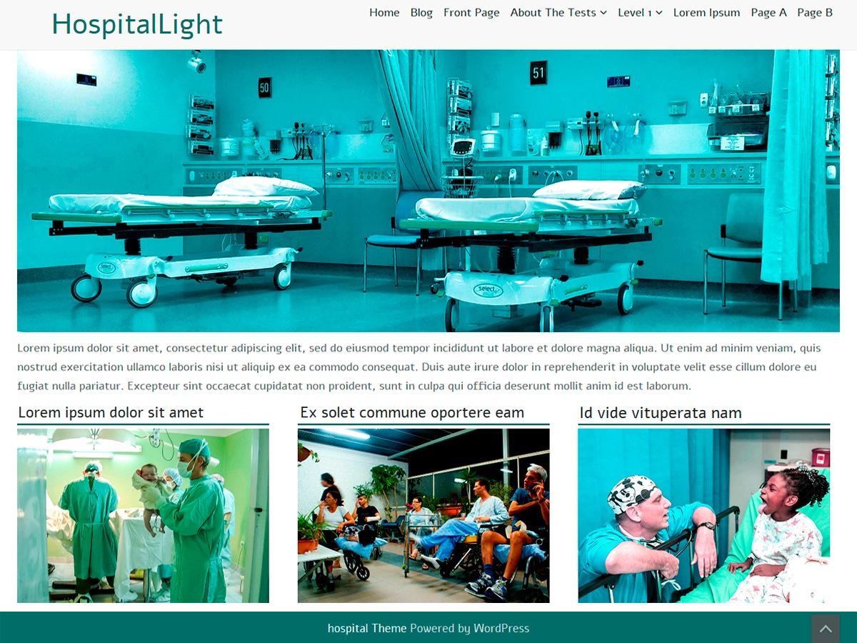 HospitalLight medical WordPress theme