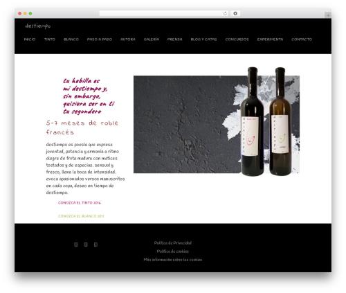 Vino WordPress theme - destiempo.net