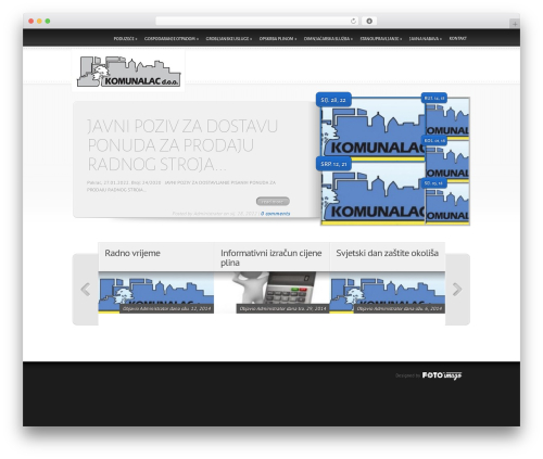 Delicate News WordPress news theme - komunalac-pakrac.hr