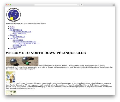Elemin WordPress theme - northdownpetanqueclub.org