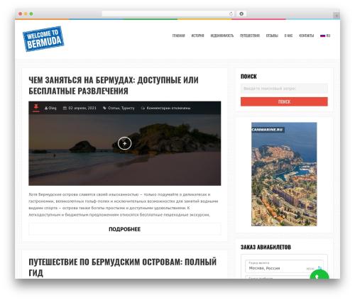 LiveBlog free WordPress theme - bermuda.ru