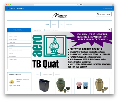 Nielsen WordPress theme - monarchresources.com