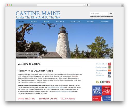 Responsive garden WordPress theme - castine.me.us/welcome