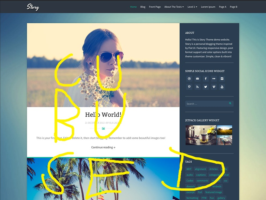Story (cubused) WordPress blog template