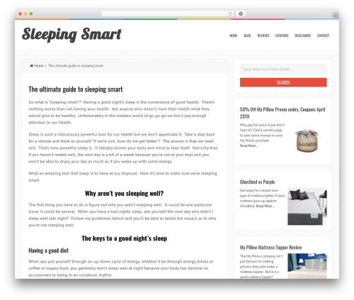 WP theme LiveBlog - sleepingsmart.org
